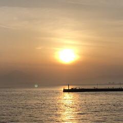 プチ旅行/夕日/江ノ島/海/おでかけ/旅 江ノ島の帰り道。