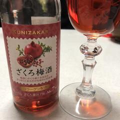 梅酒/お酒/あけおめ ざくろ梅酒!初めて飲んだけど美味しい!ミ…