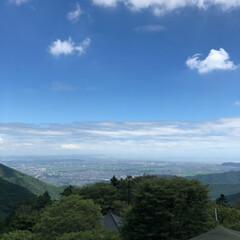夏休み/涼しい/空/登山/風景 先日軽めの登山をしてきました! 遠くに小…(3枚目)