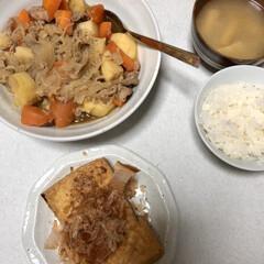 娘手作り/夕飯 今日は娘が夕飯を作ってくれました😆✨ 肉…