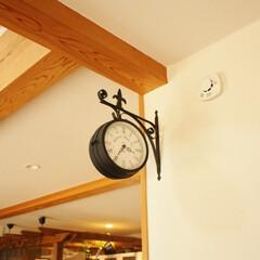 インテリア/ロートアイアン/アイアン/時計/壁掛け時計 アイアン調の内装に統一したので室内の時計…
