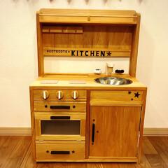 cotocoto kitchen/手作り/ままごとキッチン/ハンドメイド/DIY/100均/... おままごとキッチン。 いくつか製作しまし…