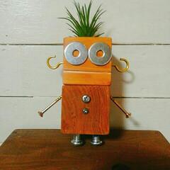 自己満足/ロボット/ネジ/100均/ダイソー またお一人追加。でかすぎる😄