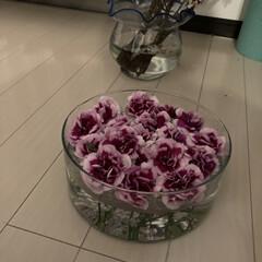花のある生活/イケア/IKEA/花瓶/アレンジ/枯れる前に/... ちょっと元気がなくなってきたので、フロー…(7枚目)