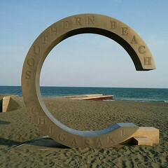 ビーチ/海/サザンビーチ/茅ヶ崎/湘南/神奈川県/... 茅ヶ崎にある サザンビーチに佇む モニュ…