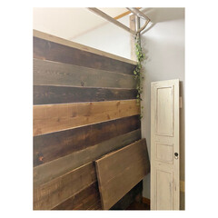 ターナー色彩 オールドウッドワックス アンティークグレー 350ml | ターナー(ワックス)を使ったクチコミ「寝室に撮影用パーテーション 作りました。…」