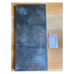 アイアンペイント アイアンブラック(その他塗料、塗装剤)を使ったクチコミ「セリアのパンチングボードを 使ってキッチ…」(6枚目)
