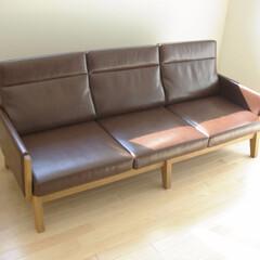無垢材/タモ/ソファ/SOFA/3P/組立/... 存在感のある組立式のソファです。 意外を…