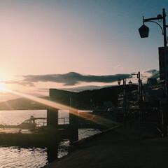 景色最高 釣りに行ったら綺麗な夕日に見惚れました^…(5枚目)