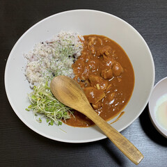 かのりゅう Konoka スプーン M アカシア B19-9-2s 木製 ナチュラルウッド 自然素材(スプーン)を使ったクチコミ「昨日の夕ご飯はトマトチキンカレーでした🍛…」
