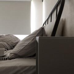 ミニマリスト目指します/シンプリスト/北欧インテリア/海外インテリア/シンプルインテリア/引越し/... 寝室はカーテンではなく、ロールスクリーン…