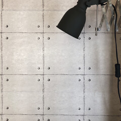 壁紙/壁紙DIY/照明DIY/照明リメイク/シンプルインテリア/シンプル/... 先日貼った壁紙に合うと思って以前、diy…