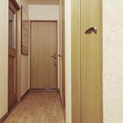 引越し/シンプルインテリア/海外インテリア/北欧インテリア/シンプリスト/ミニマリスト目指します/... 新居の廊下。 全体的には前のお家より狭く…
