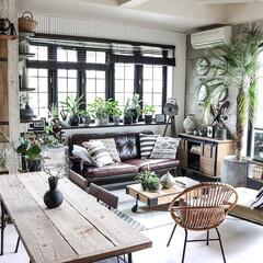 アンティーク/DIY/セルフリノベーション/DIY家具/ミックスインテリア/ヴィンテージスタイル/... リビングダイニング