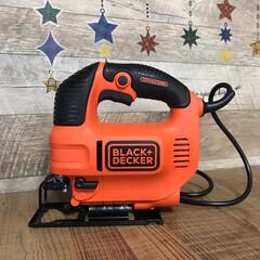 コンパクト・オービタルジグソー KS701PE-JP 電動工具 ジクソー ジグゾー | ブラック&デッカー(ジグソー)を使ったクチコミ「じゃーんっ✨ わーい😆 RCのアマゾンギ…」