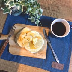 朝ごはん/おひとりさま/カフェ風/おうちカフェ/コーヒータイム/コーヒー/... 土曜日の朝ごはん💖 仕事も休みで、学校も…