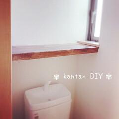 真似っこ/家にあるもので/リメイクシート/プラダン/突っ張り棒/簡単DIY/... 2階の まったく手付かずのトイレ(初公開…
