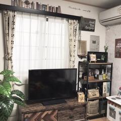フェイクグリーン/アイアン家具/ウォールステッカー/おままごとキッチン/テレビ台リメイク/カーテンボックスDIY/... 冬の間は、2階にあった リメイクしたおま…