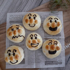 おうち時間/こどものいる暮らし/子どもと暮らす/アンパンマン/パン作り/手作りパン/... 子供たちのリクエストで久しぶりにアンパン…