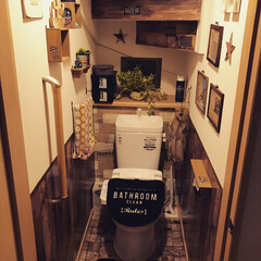 トイレットペーパーホルダー/オールドアメリカン/アメリカン/ブラウンインテリア/トイレ/トイレインテリア/... 我が家のトイレは プチプラ雑貨がたくさん…