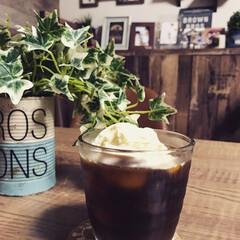 コーヒー大好き/アイスコーヒー/コーヒータイム/カフェ風インテリア/お家カフェ/おうちカフェ/... コーヒーフロート💕(1枚目)