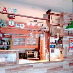 カフェカウンター/グラスハンガー/ラブリコ/アメリカンインテリア/暮らしを楽しむ/キッチン/... ここ数年、暮らしを楽しむためにしているこ…(1枚目)