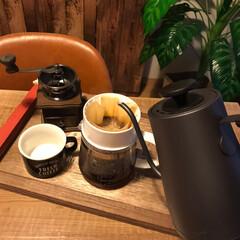電気ケトル 電気ポット 0.8L (温度設定機能/保温機能/空焚き防止機能) ブラック YKG-C800-E(B) | 山善(電気ケトル)を使ったクチコミ「朝のコーヒータイム♡」