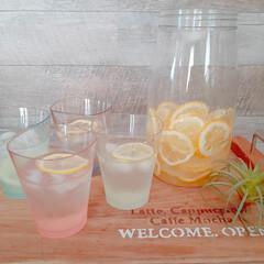 ティータイム/自家製レモネード/ゆらぎタンブラー/おうちカフェ/レモンシロップ/レモネード 自家製レモンシロップでレモネードを作りま…