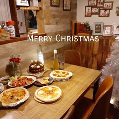 クリスマス2019/クリスマスパーティー/クリスマスディナー/ローストビーフ/手抜きクリスマス/クリスマスツリー/... 今年のクリスマスは手抜き🤣 手抜きでもみ…