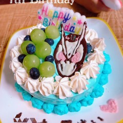 誕生日ケーキ/誕生日/7歳誕生日/バースデーケーキ/仮面ライダーゼロワン/小1男子/... 次男7歳になりました✨ 1番心配事の多い…