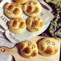 パン作り/久しぶりの/こどものいる暮らし/アンパンマン/手作りパン/おやつタイム/... 久しぶりにアンパンマン焼きました💕