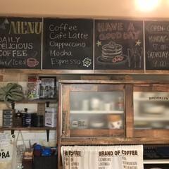 コーヒー大好き/カフェ風/カフェ風インテリア/黒板シート/カフェメニュー/メニューボード風/... メニューボード リニューアル💖 年末に …