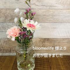 お花の定期便/花が好き/花のある暮らし/花のある生活/bloomeelife/住まい/... bloomeelife 様よりお花を届け…