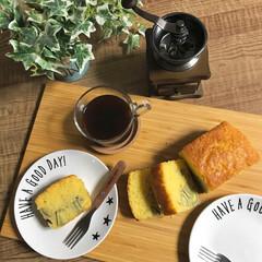 カフェ風インテリア/挽き立てコーヒー/コーヒー大好き/おやつタイム/コーヒータイム/さつまいも/... パウンドケーキが食べたくて、さつまいもを…