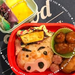 手作り/年長/幼稚園弁当/ぶりぶりざえもん/キャラ弁/お弁当/... 以前のpicですが、今年最後の幼稚園弁当…