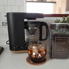 象印 コーヒーメーカー STAN. 420mL ドリップ方式 ブラック EC-XA30-BA | STAN.(コーヒーメーカー)を使ったクチコミ「今年初の、ドリップアイスコーヒー💕 象印…」