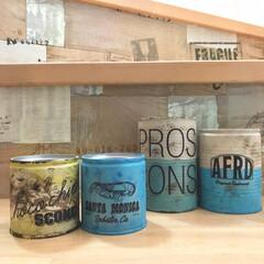 空き缶リメイク/空き缶/リメ缶/ハンドメイド/DIY/雑貨/... 久々のリメ缶✨ pic2は、夏くらいに作…