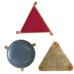 三角/スツール/椅子 三本脚の三つ巴……みずき工房のスツール/…