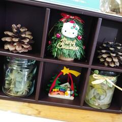 空き箱/インテリア 職場の棚の上☆ お菓子を戴いた箱がいい感…