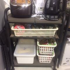 キッチン雑貨 夫が独身時代から使っていたキッチンワゴン…
