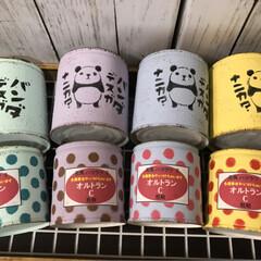 ステンシル/リメ鉢/リメ缶/ダイソー/セリア/DIY/... 台風な今日は、お外にも出たくない〜  リ…(2枚目)