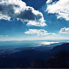 山/冬の景色/おでかけ/旅行/風景 冬の長崎雲仙の景色😊