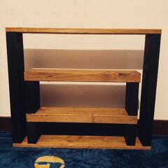 靴棚/DIY 材料費380円で シューズシェルフ作成し…