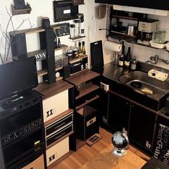 収納/カラーボックス/収納アイデア/棚/キッチン 近所のホームセンターで見つけた カラーボ…(3枚目)
