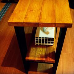 カフェテーブル/DIY カフェテーブルを作りました☕️ 材料費6…