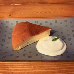 チーズスフレケーキ/にゃんこ同好会/おやつタイム/みんなにおすすめ ①チーズスフレケーキ作ってみました😊 隠…