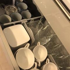 春のフォト投稿キャンペーン/ありがとう平成/フォロー大歓迎/キッチン雑貨/収納/キッチン/... 食器棚の中身が随分変わりました٩(˙▿︎…(2枚目)