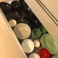 春のフォト投稿キャンペーン/ありがとう平成/フォロー大歓迎/キッチン雑貨/収納/キッチン/... 食器棚の中身が随分変わりました٩(˙▿︎…(1枚目)