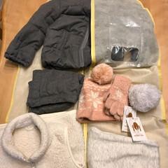 衣替え/クローゼット収納/セリア/収納/LIMIAベスト収納2019 セリアのスーツ収納袋を使って、冬アウター…(2枚目)