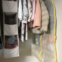 衣替え/クローゼット収納/セリア/収納/LIMIAベスト収納2019 セリアのスーツ収納袋を使って、冬アウター…(4枚目)
